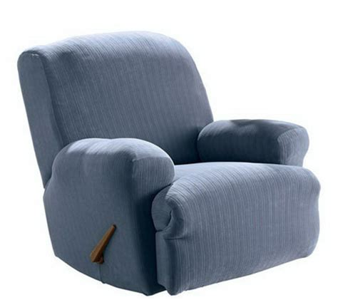 Qvc Recliner Covers Sure Fit Stretch Pinstripe Recliner Slipcover Page 1 Qvc