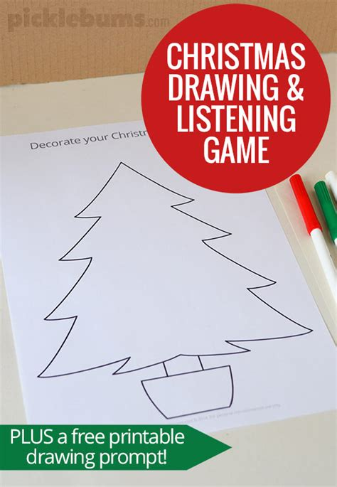 Printable Christmas Listening Activities   christmas drawing and listening game picklebums