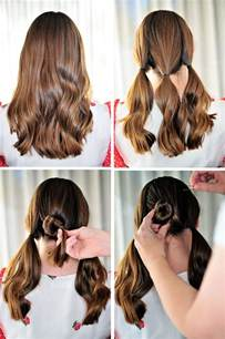 hairstyles step by step cute bun hairstyles step by step