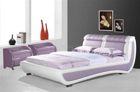 Lavender Beds by White Lavender Leatherette Modern Bed
