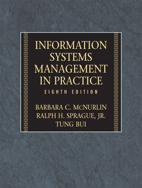 Management Information System Eigth Edition mcnurlin sprague bui information systems management 8th edition pearson