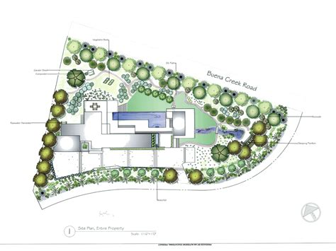 make a blue print concept and rendered plans allee landscape design