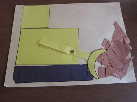 kindergarten activities with construction paper construction truck preschool bulldozer and printable