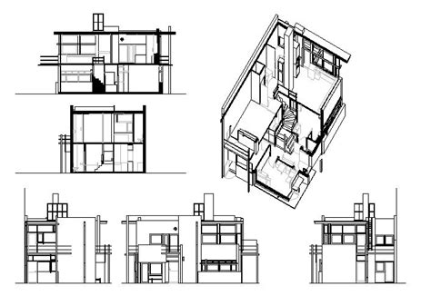 schroder house section the gallery for gt rietveld schroder house plan