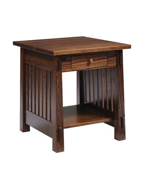 country mission end table amish furniture designed