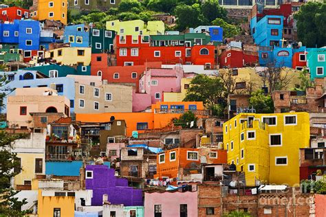 A Framed Houses by House Of Guanajuato Mexico Photograph By Craig Lovell
