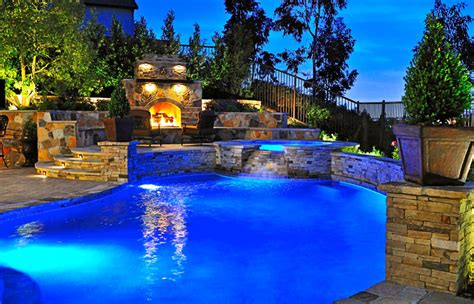 beautiful backyard pools backyard pools imaginative design beautiful night at