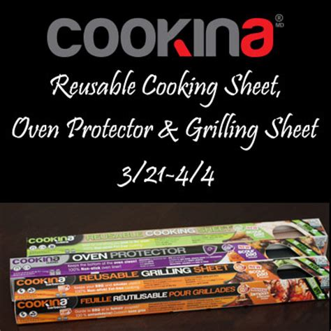 Sheets Giveaway - cookina reusable cooking sheets giveaway