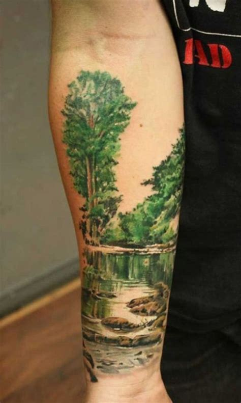 tattoo ideas river 50 mountain tattoos river and