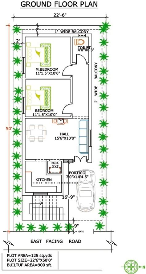House Design 30x50 Site by West Facing Independent Floor Plan 200 Sq Yards Land