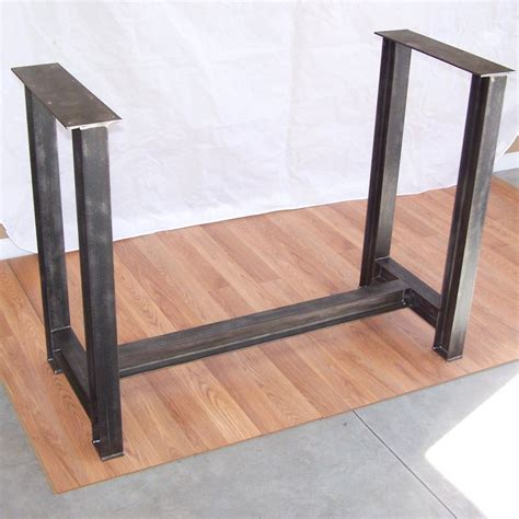 Table Supports by Industrial Steel I Beam Bar Base Kitchen Island Heavy