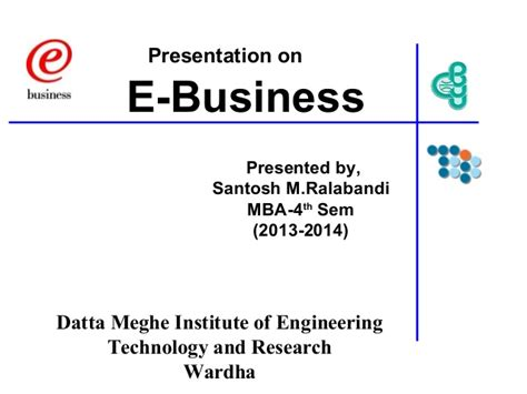 E Business Ppt For Mba e business