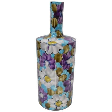 italian ceramic vase floral italian ceramic vase for sale at 1stdibs