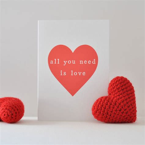 You Need Is all you need is valentines card by the two wagtails