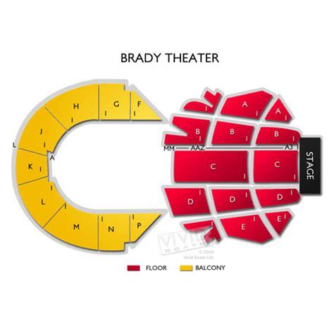 Floor Plan Company by Brady Theater Tickets Brady Theater Information Brady