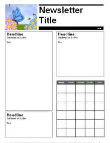 Free April Newsletter Template by Education World April Parent Newsletter Template