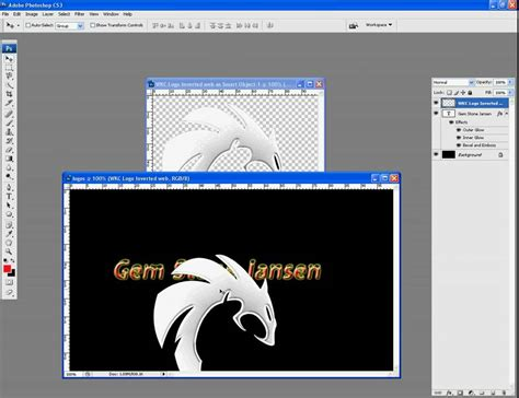 tutorial logo photoshop cs3 how to make basic logo in adobe photoshop cs3 youtube