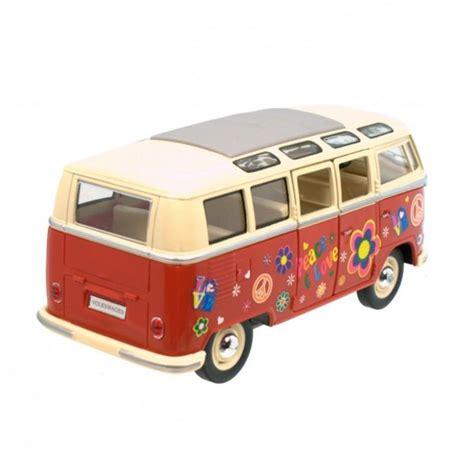 vw hippie vw t1 bulli flower power modellauto