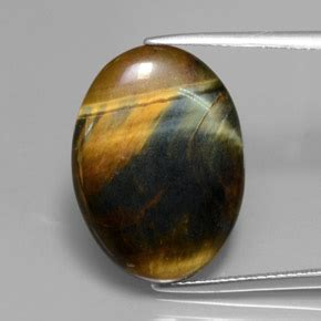 hawk's eye 10.6 carat oval from india natural and