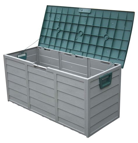 Plastic Garden Storage Garden Outdoor Plastic Storage Box Chest Shed Cushion