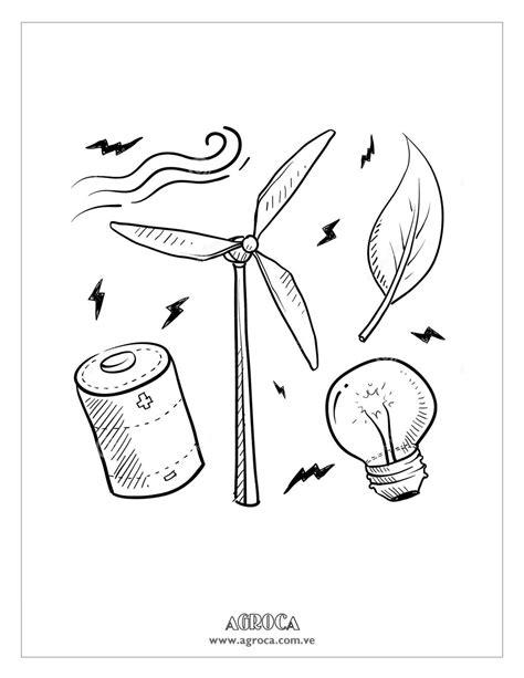 imagenes recursos naturales para colorear energia eolica para colorear