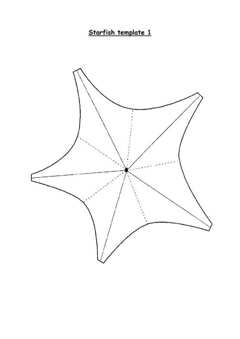 template of starfish best 25 starfish template ideas on