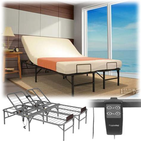 full size electric adjustable head lift bed frame remote