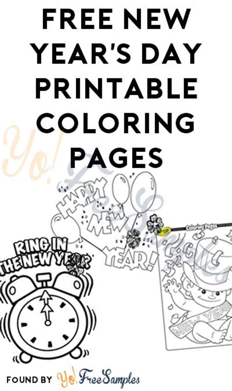 free new year s day printable coloring pages yo free