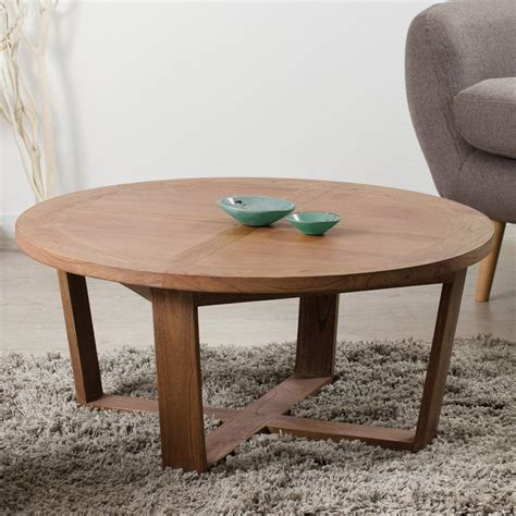 Table Basse Ronde by Table Basse Ronde En Mindi Et Contreplaqu 233 90x90xh40cm Flancy