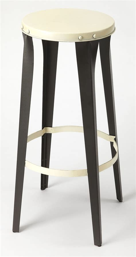 Black And White Bar Stool Ulrich Black And White Bar Stool From Butler Coleman Furniture