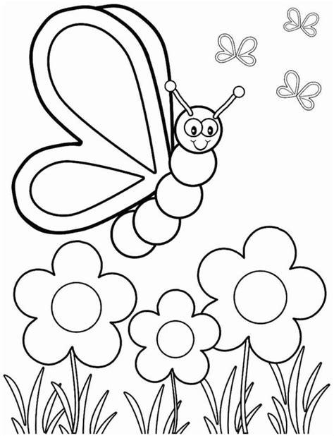 Gambar Mewarnai Kupu-kupu Lucu Untuk Anak-anak