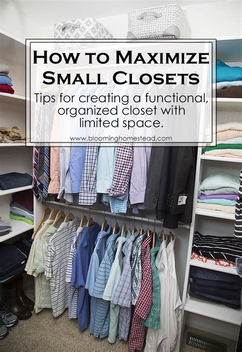 how to organize a small closet master closet makeover blooming homestead