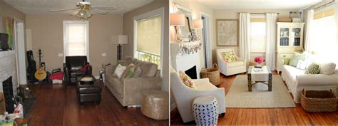 Small Apartment Furniture by 12 Inspiring Living Room Makeovers Before And After