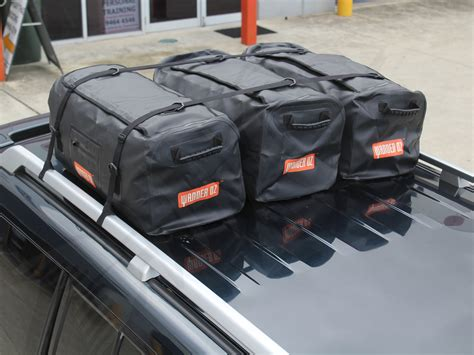 roof rack luggage large duffle luggage carry bag overnight cing 4wd travel waterproof roof rack