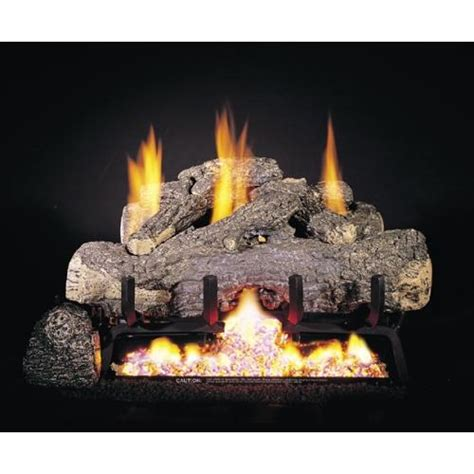 real fyre 30 quot charred frontier oak ventless gas