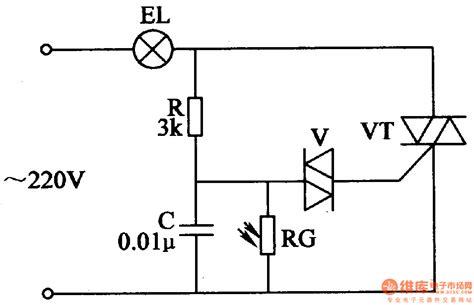 diode vt light operated moth killing l led and light circuit circuit diagram seekic