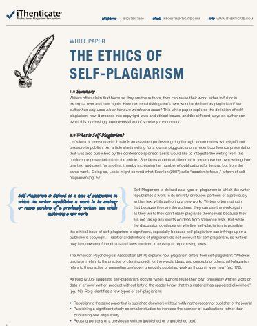 What Is Self Plagiarism And How To Avoid It Hubspot White Paper Template