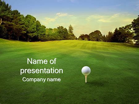 golf powerpoint templates golf ball powerpoint template