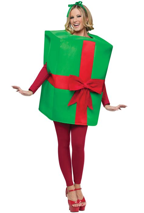gift box christmas present funny adult halloween costume