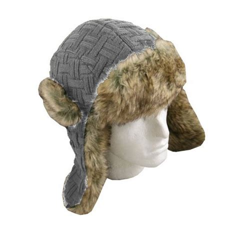 knit trapper hat knitted trapper hat