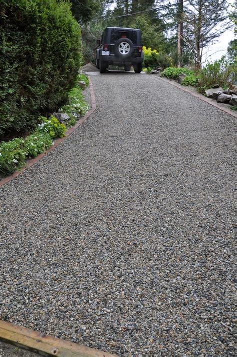 gravel steep slope driveway install coast