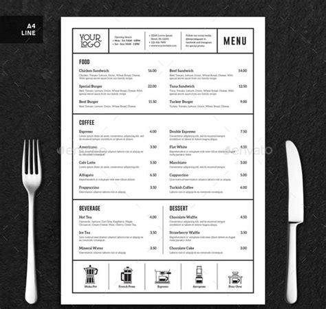 25 Beautiful Minimal Restaurant Menu Design Templates Pixel Curse Minimal Menu Template