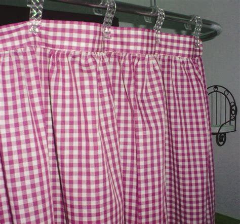 pink gingham shower curtain hot pink fuchsia gingham check shower curtain