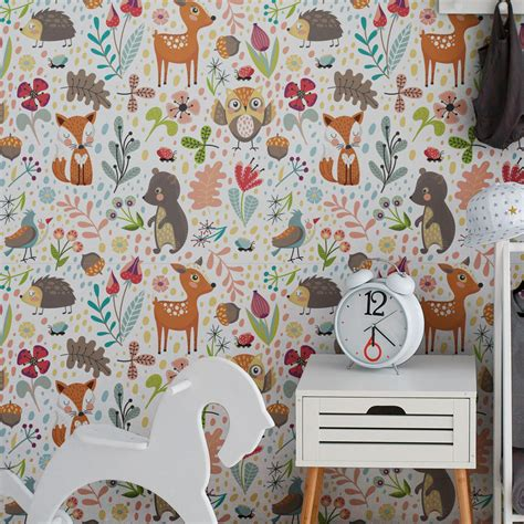 Tapisserie Chambre Enfant by Sticker Tapisserie Chambre Enfant Les Animaux Des Bois