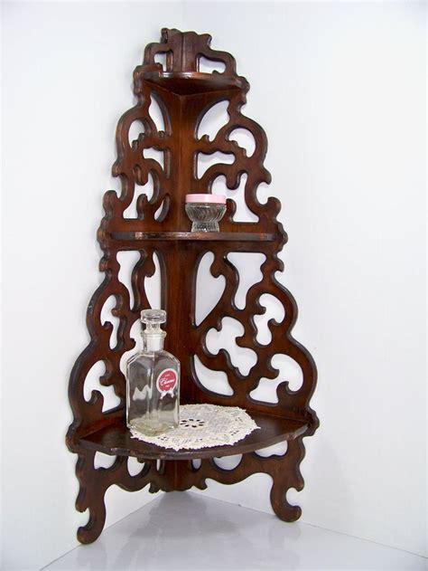 vintage corner wooden shelves for sale antique scrolled