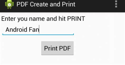 pdf printer for android android generate pdf using itext and print to bluetooth printer exle