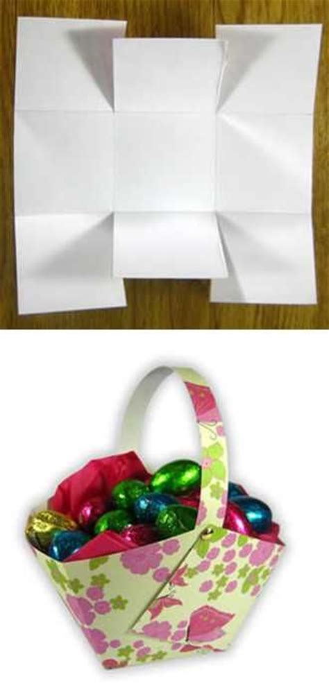 How To Make Easter Decorations Out Of Paper - 25 best ideas about paper basket on recycle