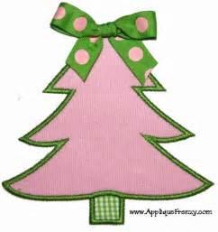 christmas tree applique design