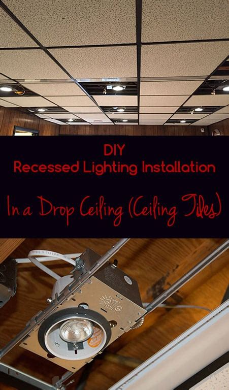 how to install recessed lighting diy recessed lighting installation in a drop ceiling