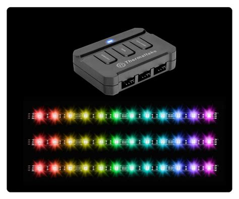 Lu Led Lazada thermaltake lumi color 256c rgb magnetic led